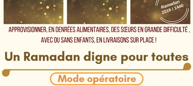 Opération Une femme un panier : Ramadan 2019/1440